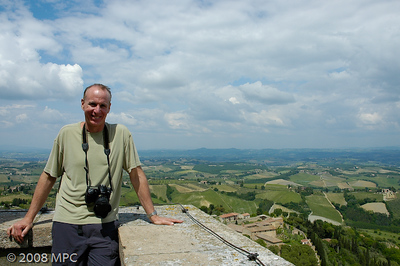 From the top of the tower in San Gimignano