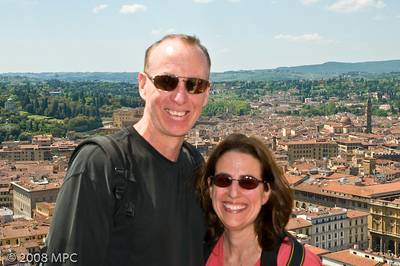 On top of the Duomo in Florence