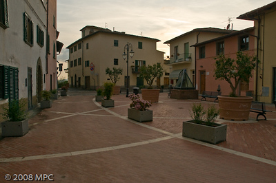 For the big birthday dinner we went to the nearby town of Montefiridolfi to A Casa Mia for an authentic Tuscan meal!