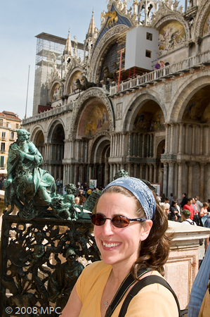In front of St Marks Basilica
