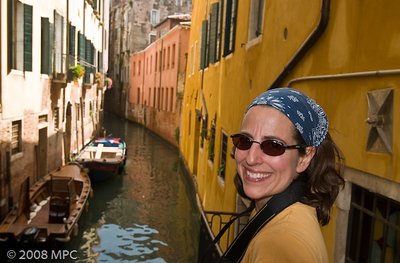 One of the many canals in Venice