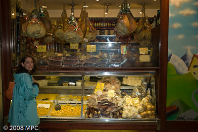 Homemade pastas, meats and cheeses in Bologna