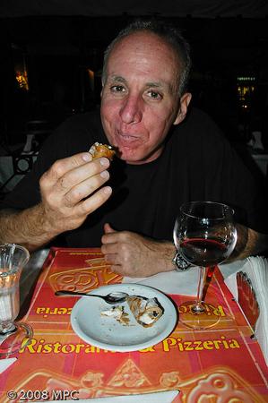 Enjoying a cannoli