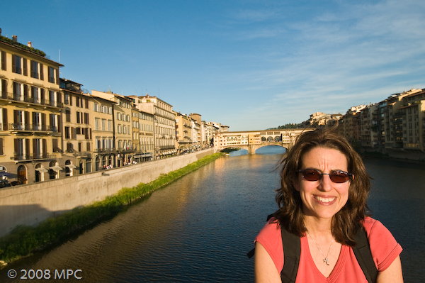 The Arno and the Ponte Vecchio in Florence