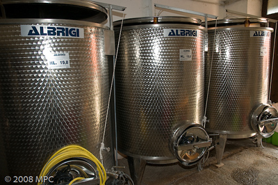 Fermenting wine - the temperature is kept a constant 30 degrees celsius