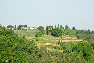 The surrounding hillside from the agriturismo