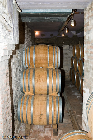 Wine is then barrelled and placed in this room.  The oak barrels are small as to not give the wine too much of an oaky taste.