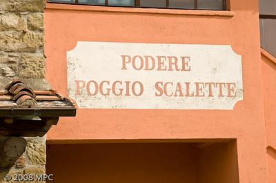 Podere Poggio Scalette in Greve in Chianti.  Producer of our favorite wine Il Carbonaione.
