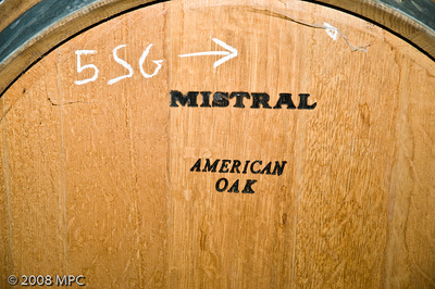 Wine barrels - some, not all are American Oak.