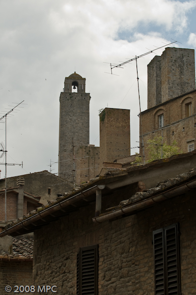 One of the many towers in San Gimignano