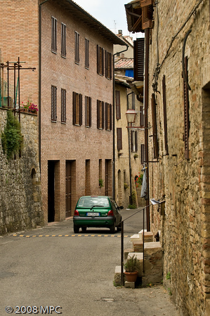 Streets in San Gimignano