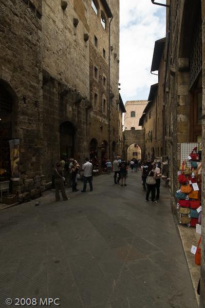 A street in San Gimignano