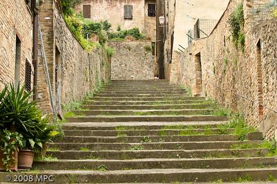 Walking around San Gimignano.