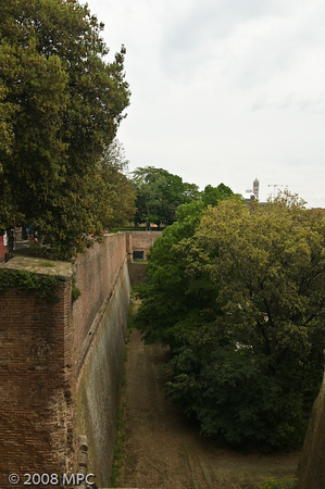 View from atop the Fortessa along the wall