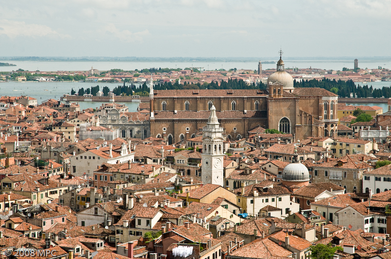 Venice cityscape from atop St. Marks Campanile