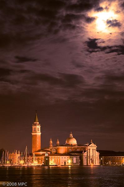 San Giorgio Maggiore from Venice at night