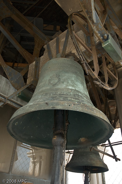 The bell in the top of the Campanile