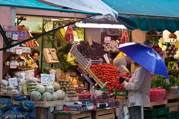 Fresh produce at the Rialto Market
