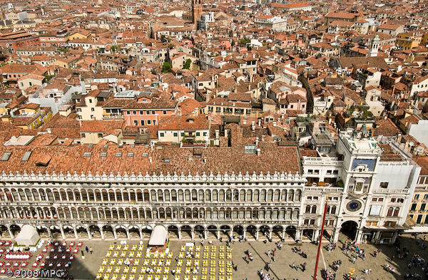 St Marks Square from atop St Marks Campanile
