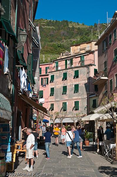 Main road in Vernazza
