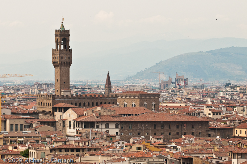 Uffizi Gallery from the Piazza Michelangelo