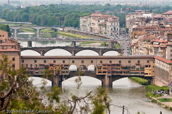 Ponte Vecchio from the Piazza Michelangelo