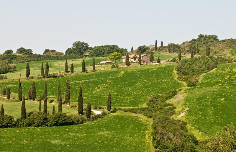 On a hilltop headed towards Montepulciano