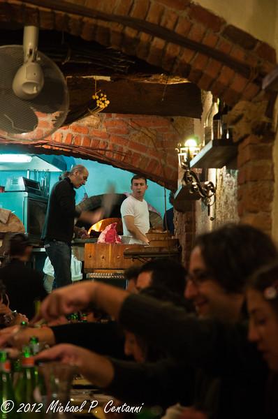 Dinner at Osteria Acquacheta, Montepulciano