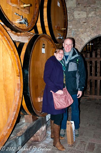 Barrels of wine @ Contucci