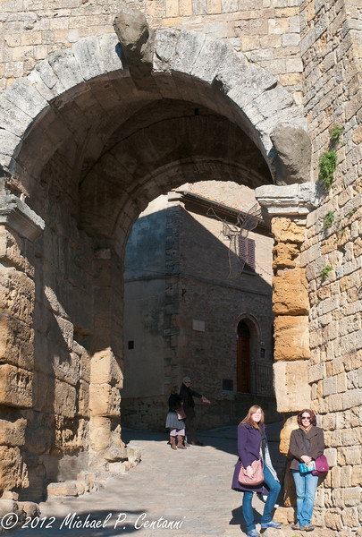 at the Porta all'Arco in Volterra