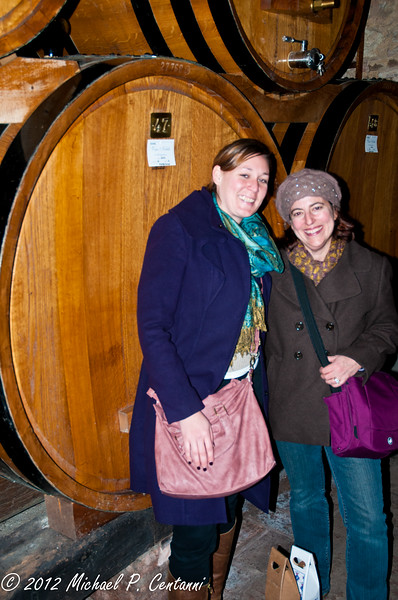 Barrels of wine @ Contucci