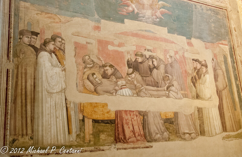 St John and St Francis<br /> Fresco in the Basilica di Santa Croce