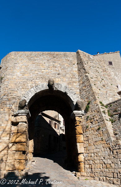 Porta all'Arco, from outside the City Walls - Volterra
