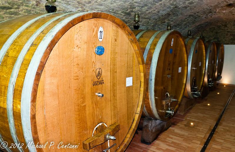 Castello di Volpaia, Radda in Chianti<br /> Barrels