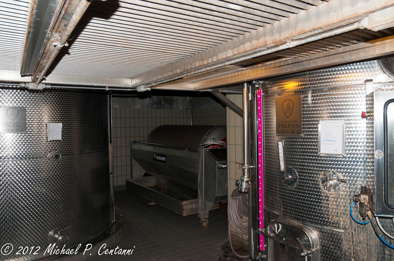 Castello di Volpaia, Radda in Chianti<br /> <br /> Wine presses