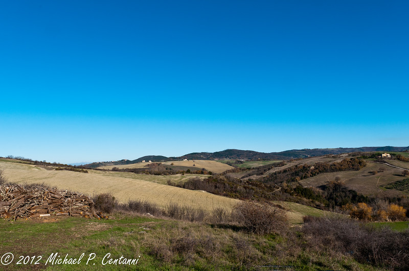 The countryside of Volterra