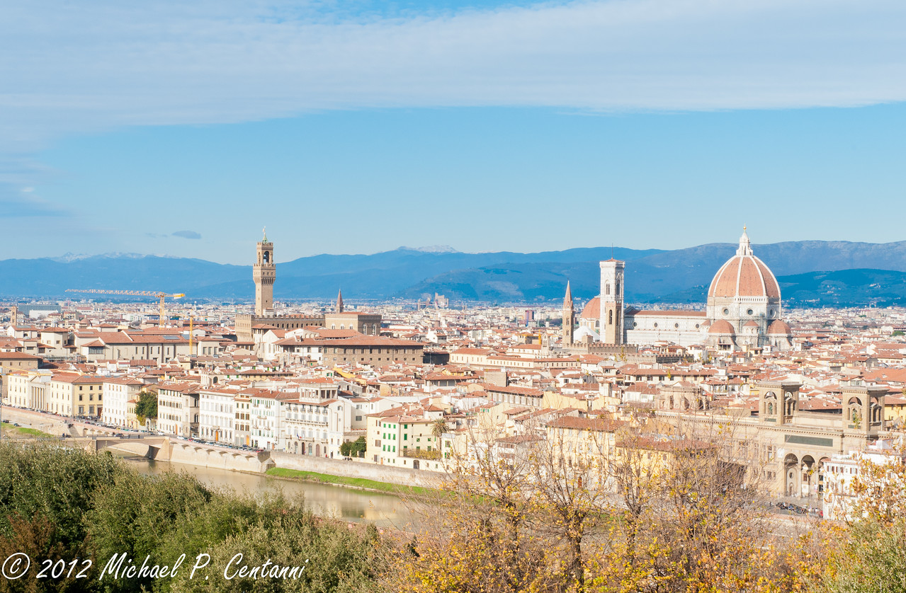 The skyline of Florence from Piazza Michelangelo