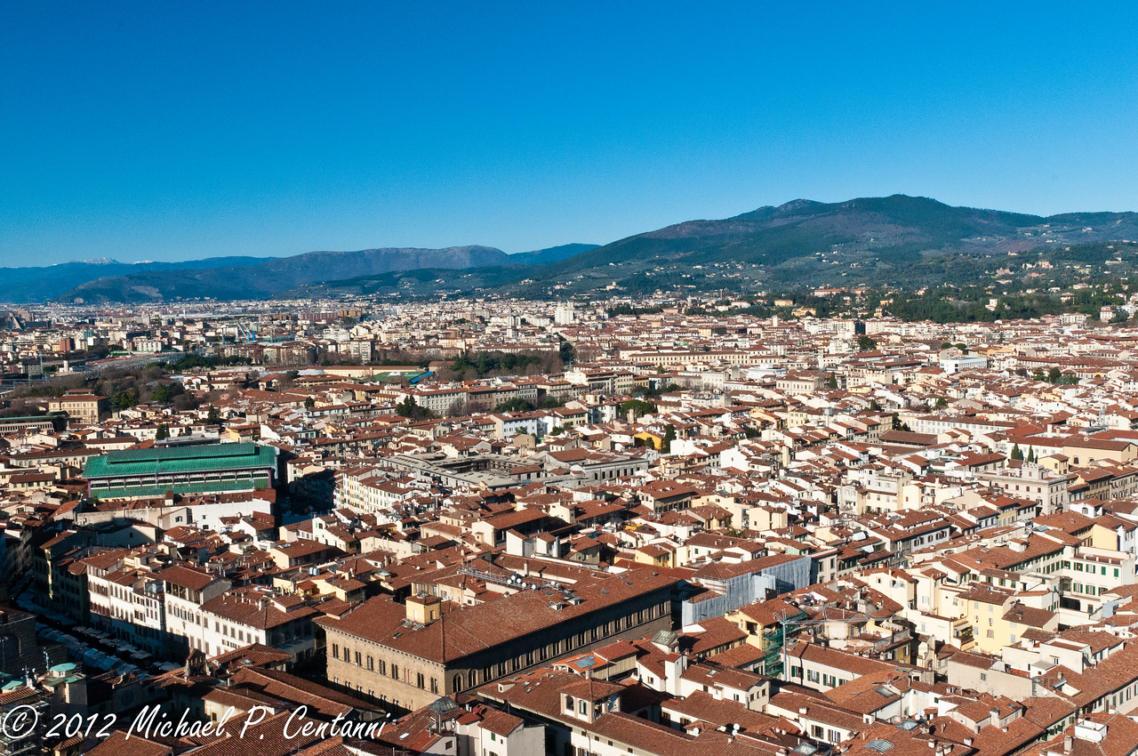 A view of Florence from the Duomo