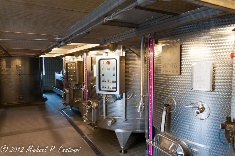 Castello di Volpaia, Radda in Chianti<br /> Fermentation Room