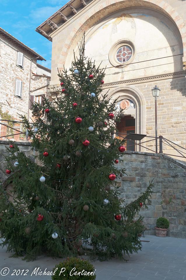 Christmas tree in Radda