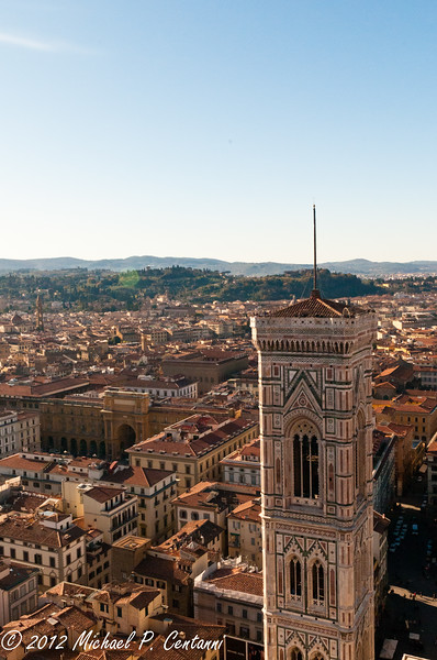 Giotto's Bell Tower as seen from the top of the Duomo
