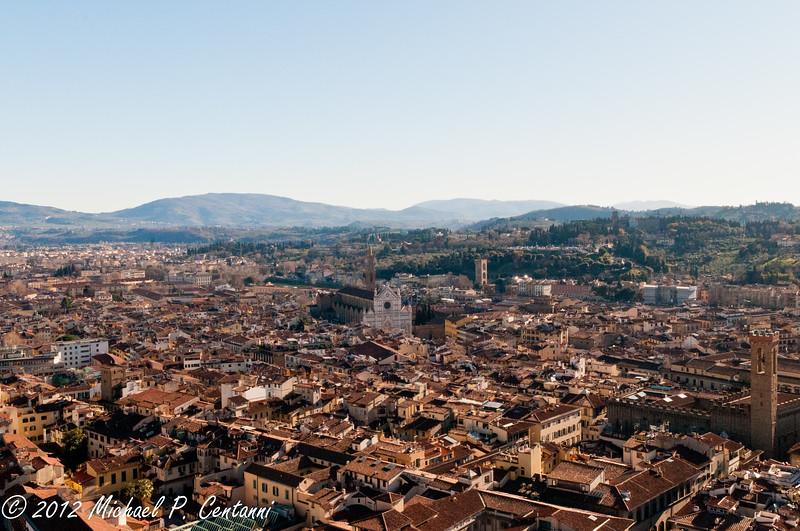 A view of Florence and Santa Croce from the Duomo