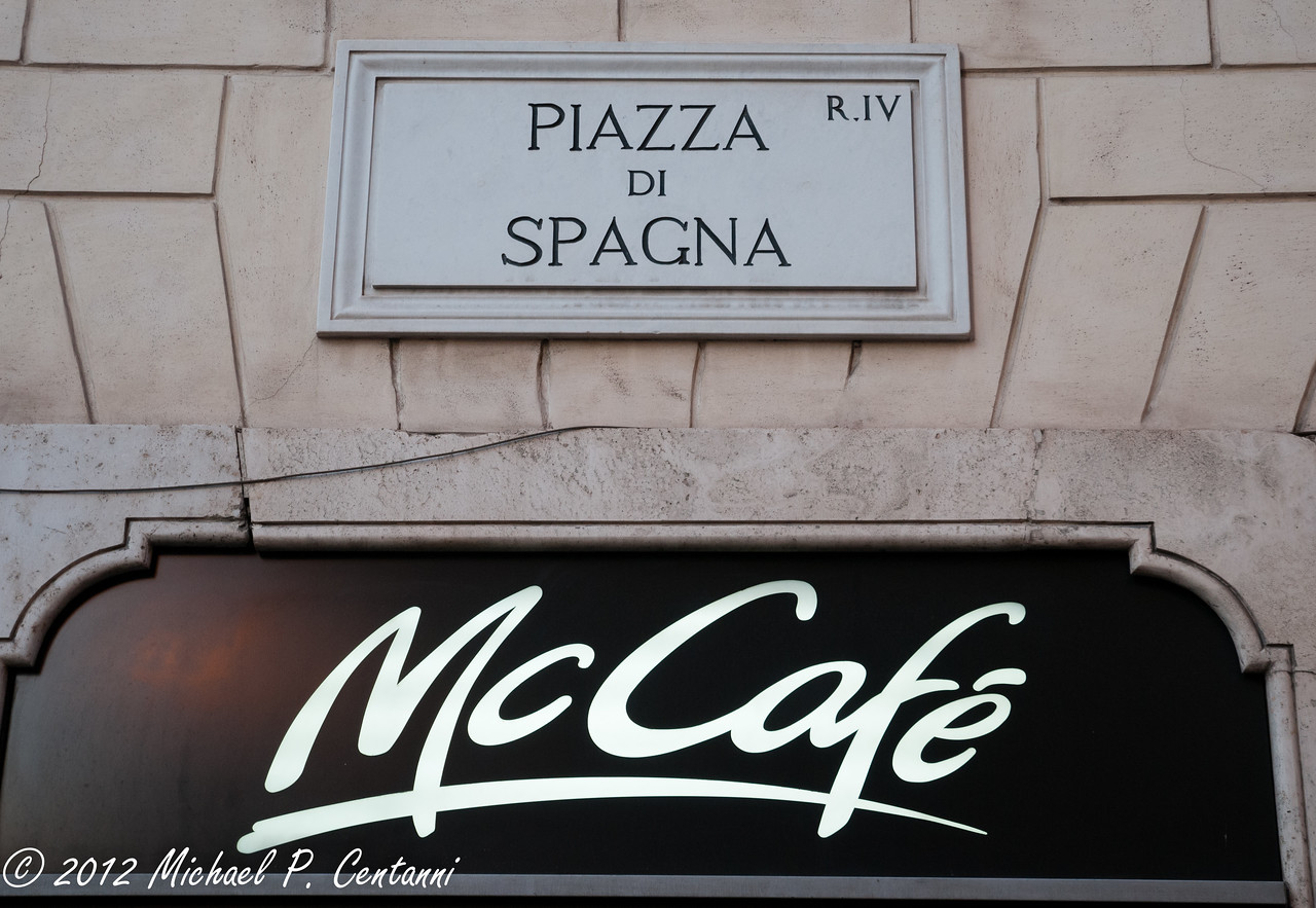 The first McDonald's in Italy... prompting the Slow Food movement
