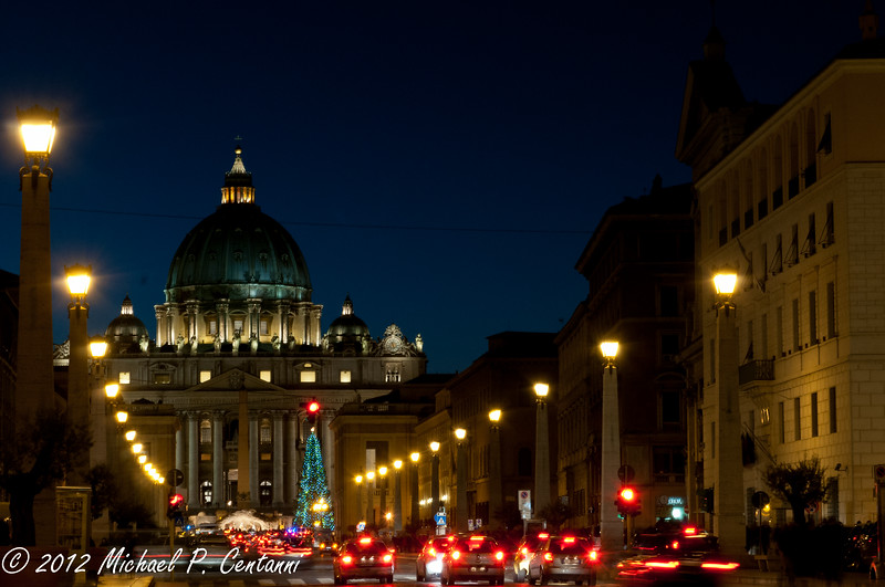 Looking at St Peters from Via della Conciliazione