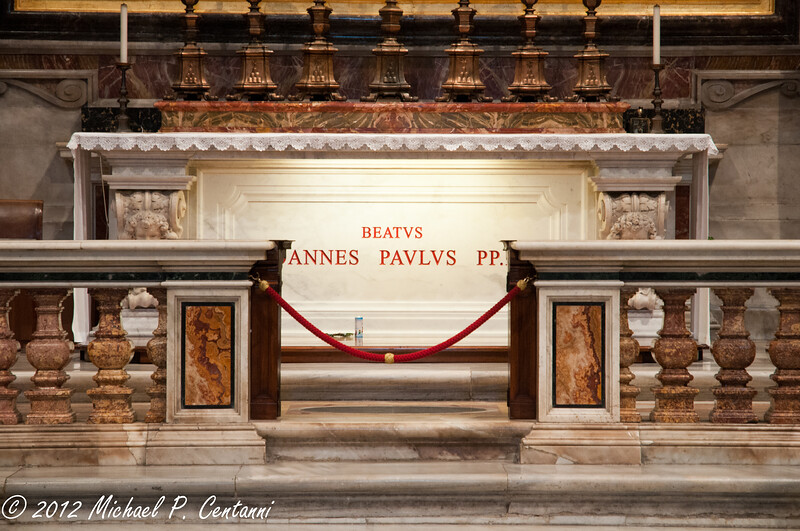 Tomba del Beato Giovanni Paolo II