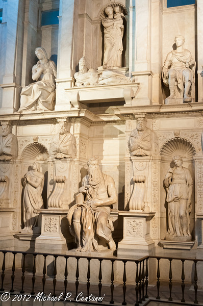 Michelangelo's Moses<br /> inside San Pietro in Vincoli (Saint Peter in Chains)