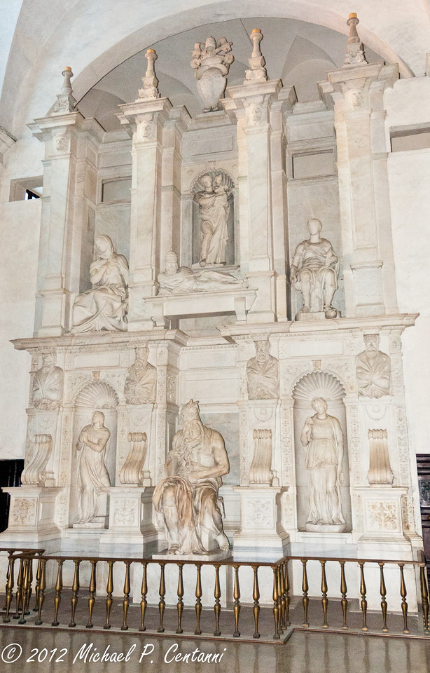 inside San Pietro in Vincoli (Saint Peter in Chains)