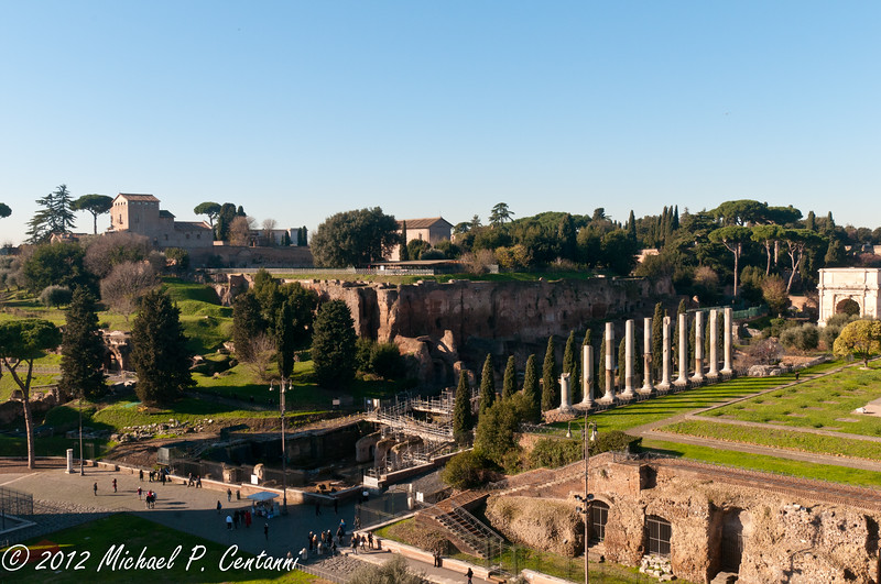Looking out to the Forum from the Coliseum
