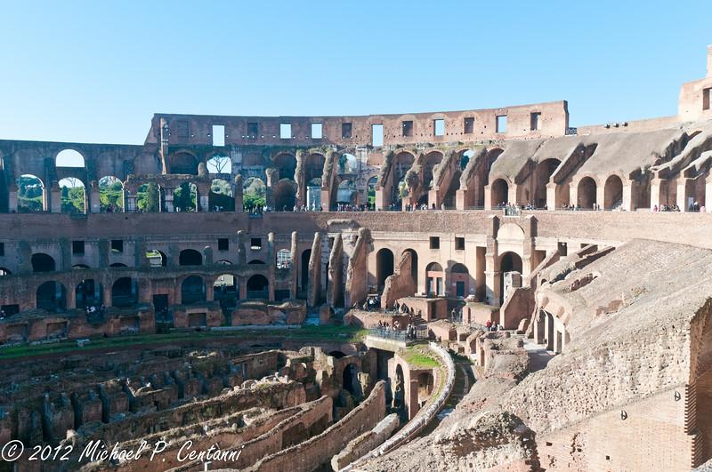 Inside the Coliseum, main level
