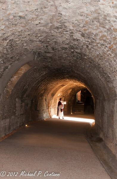 A Roman orator - Inside the Coliseum
